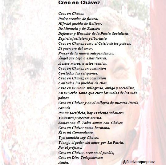 CREO EN CHAVEZ-Fidel Ernesto Vasquez