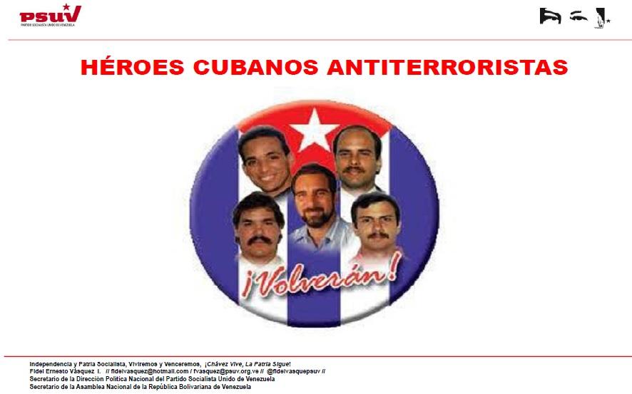 HÉROES CUBANOS ANTITERRORISTAS
