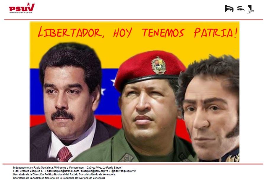 LIBERTADOR, HOY TENEMOS PATRIA!!