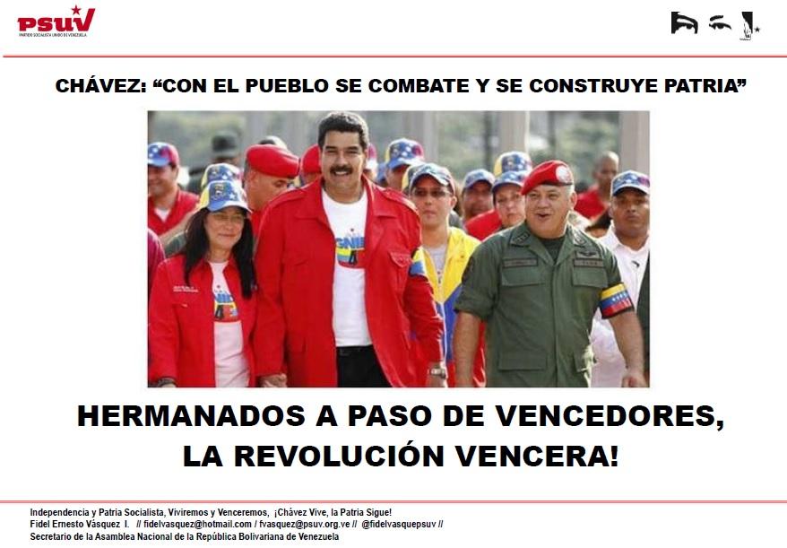 CON EL PUEBLO SE COMBATE Y SE CONSTRUYE PATRIA