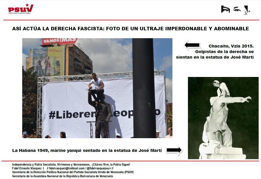 ASÍ ACTÚA LA DERECHA FASCISTA.- FOTO DE UN ULTRAJE IMPERDONABLE Y ABOMINABLE