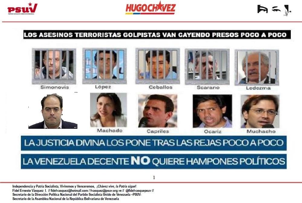 Asesinos terroristas presos