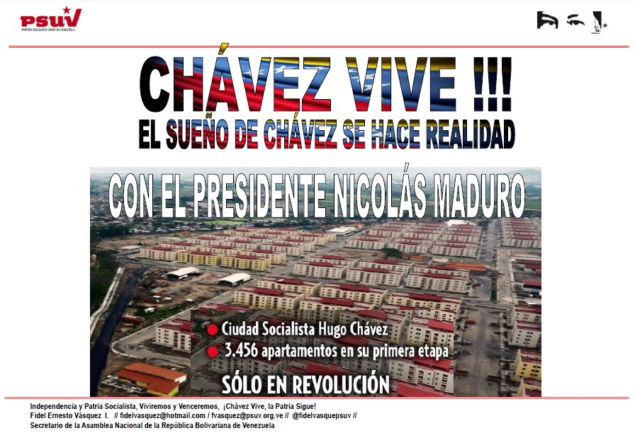 CHÁVEZ VIVE-Ciudad Socialista Hugo Chavez