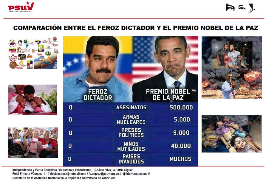 COMPARACIÓN ENTRE EL FEROZ DICTADOR Y EL PREMIO NOBEL DE LA PAZ