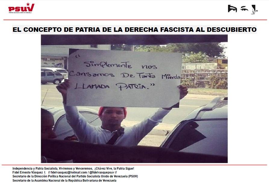 EL CONCEPTO DE PATRIA DE LA DERECHA FASCISTA AL DESCUBIERTO