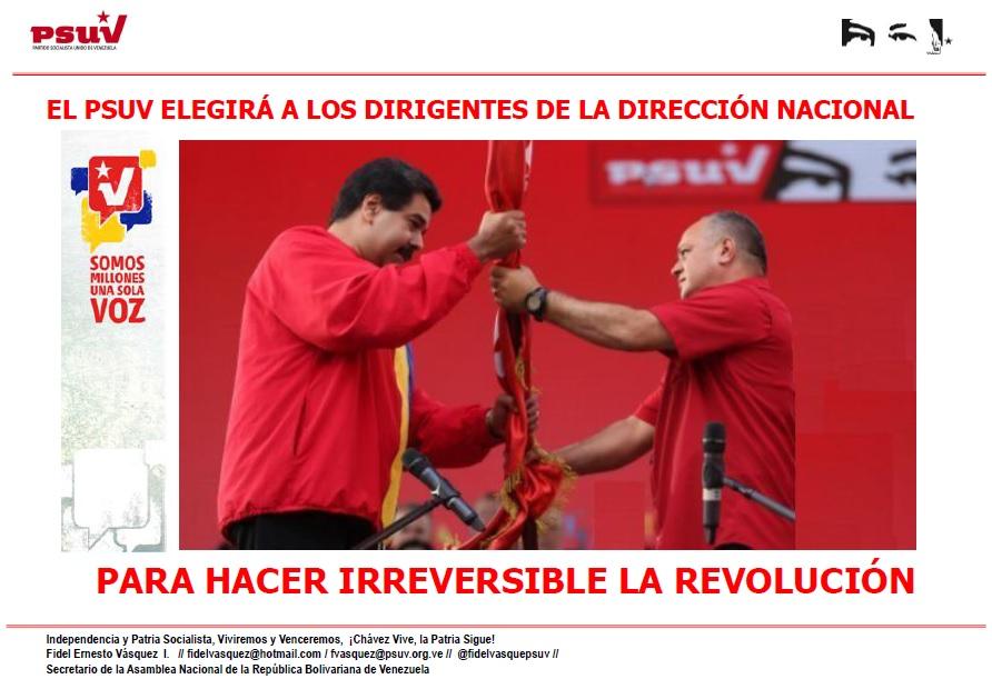 EL PSUV ELEGIRÁ A LOS DIRIGENTES DE LA DIRECCIÓN NACIONAL