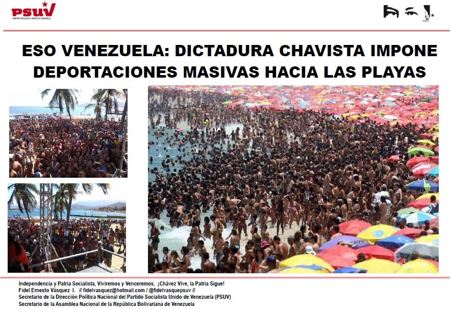 ESO VENEZUELA.- DICTADURA CHAVISTA IMPONE DEPORTACIONES MASIVAS HACIA LAS PLAYAS