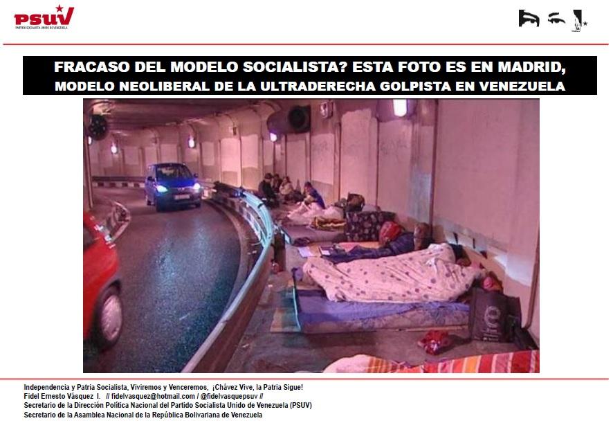 FRACASO DEL MODELO SOCIALISTA... ESTA FOTO ES EN MADRID, MODELO NEOLIBERAL DE LA ULTRADERECHA GOLPISTA EN VENEZUELA