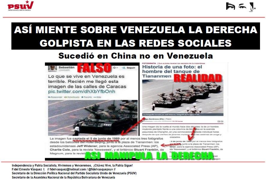 Sucedió en China no en Venezuela .- ASÍ MIENTE SOBRE VENEZUELA LA DERECHA GOLPISTA EN LAS REDES SOCIALES