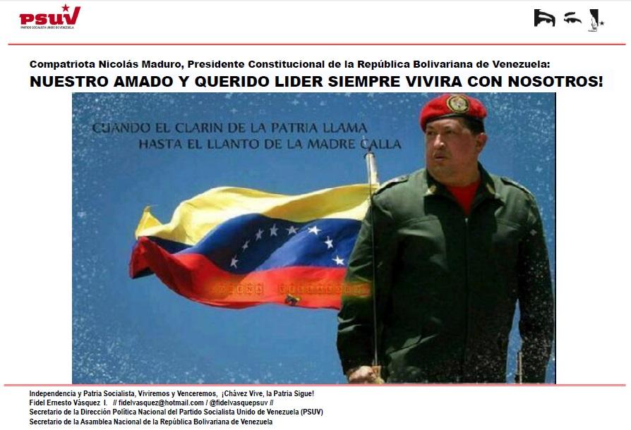 NUESTRO AMADO Y QUERIDO LIDER SIEMPRE VIVIRA CON NOSOTROS!