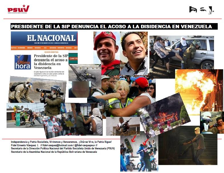 PRESIDENTE DE LA SIP DENUNCIA EL ACOSO A LA DISIDENCIA EN VENEZUELA