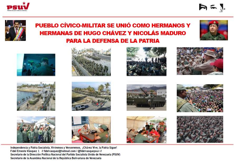 PUEBLO CÍVICO-MILITAR SE UNIÓ COMO HERMANOS Y HERMANAS DE HUGO CHÁVEZ Y NICOLÁS MADURO