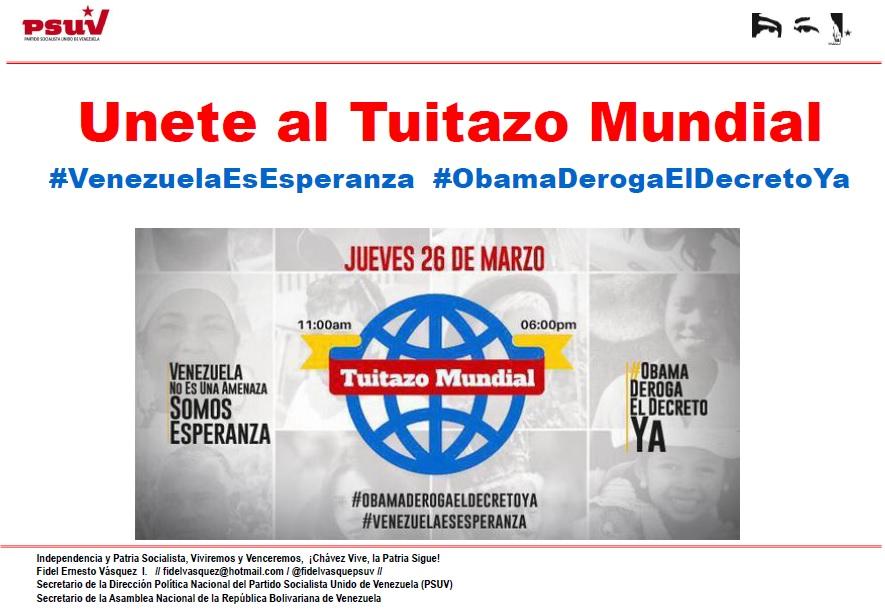Unete al Tuitazo Mundial-Fidel Ernesto Vasquez