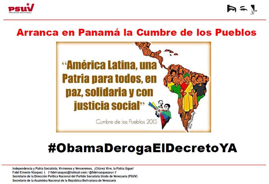 Arranca en Panamá la Cumbre de los Pueblos