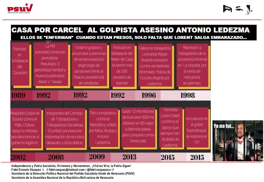 CASA POR CARCEL  AL GOLPISTA ASESINO ANTONIO LEDEZMA