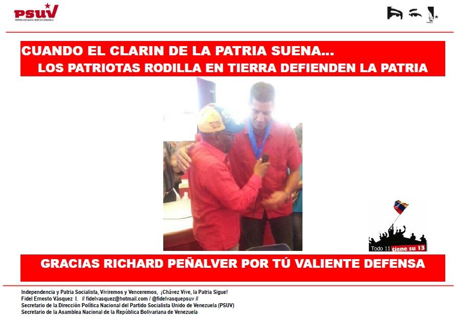 CUANDO EL CLARIN DE LA PATRIA SUENA… LOS PATRIOTAS RODILLA EN TIERRA DEFIENDEN LA PATRIA.