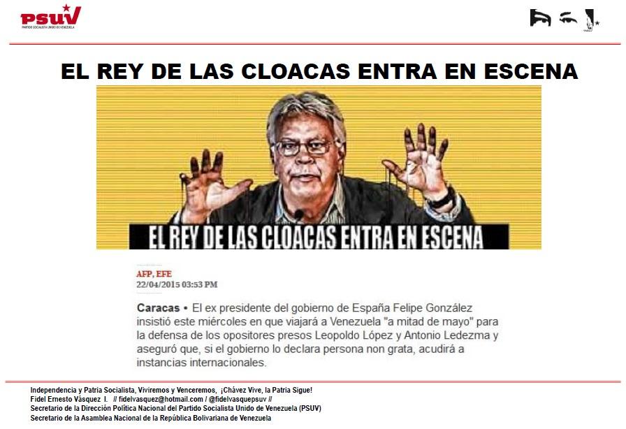 EL REY DE LAS CLOACAS ENTRA EN ESCENA