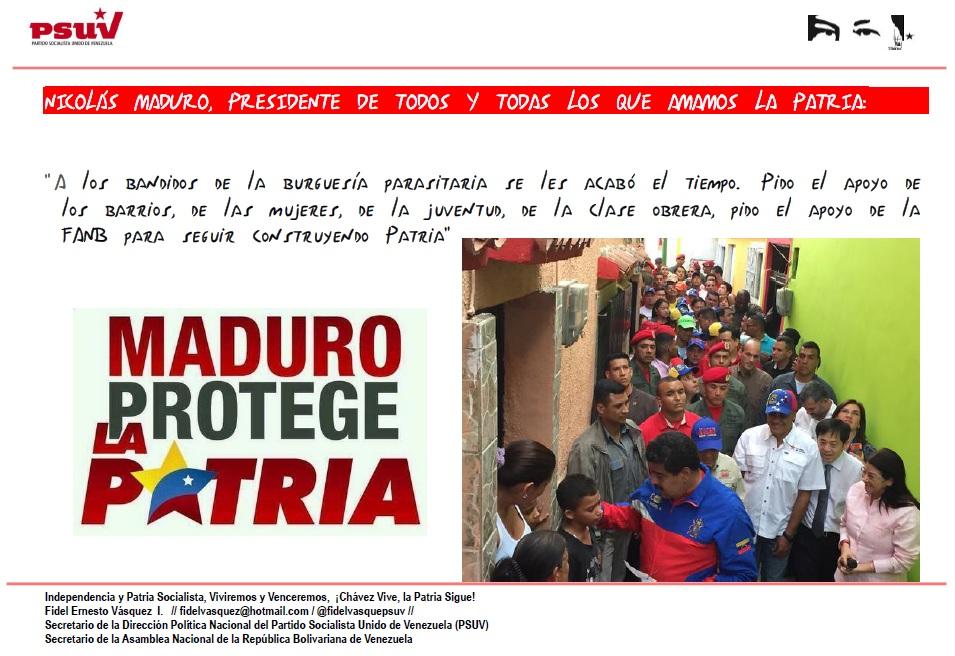 PRESIDENTE NICOLAS MADURO DE TODOS LOS QUE AMAMOS LA PATRIA