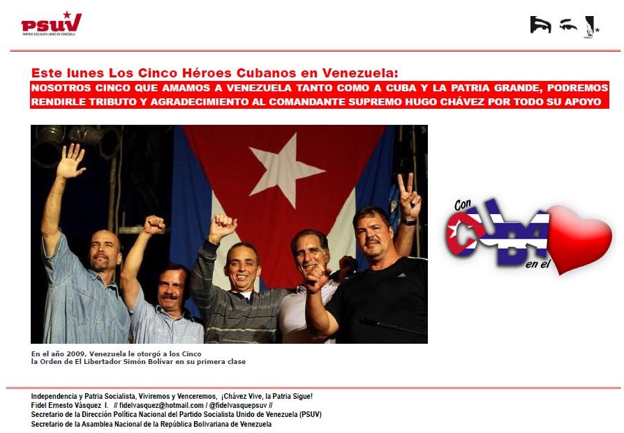 Cinco heroes cubanos-Fidel Ernesto Vasquez