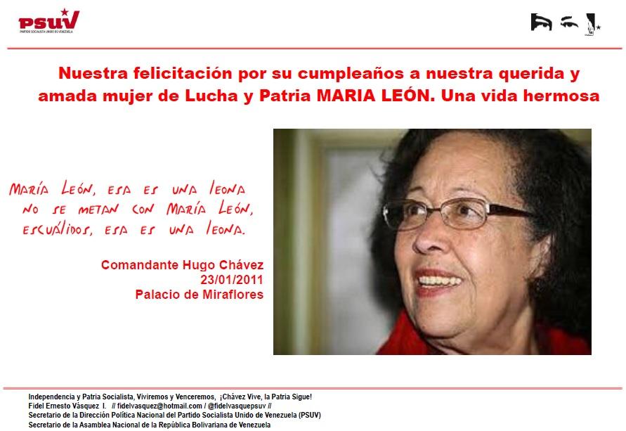 MARIA LEON-FIDEL ERNESTO VASQUEZ