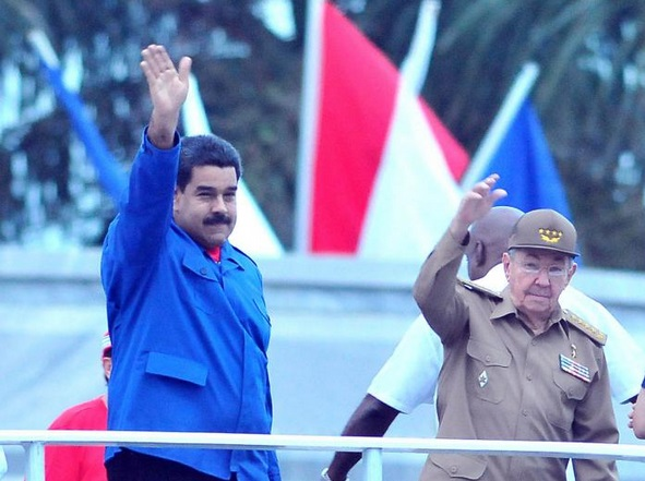 Nicolas Maduro-Raul castro-Fidel Ernesto Vasquez