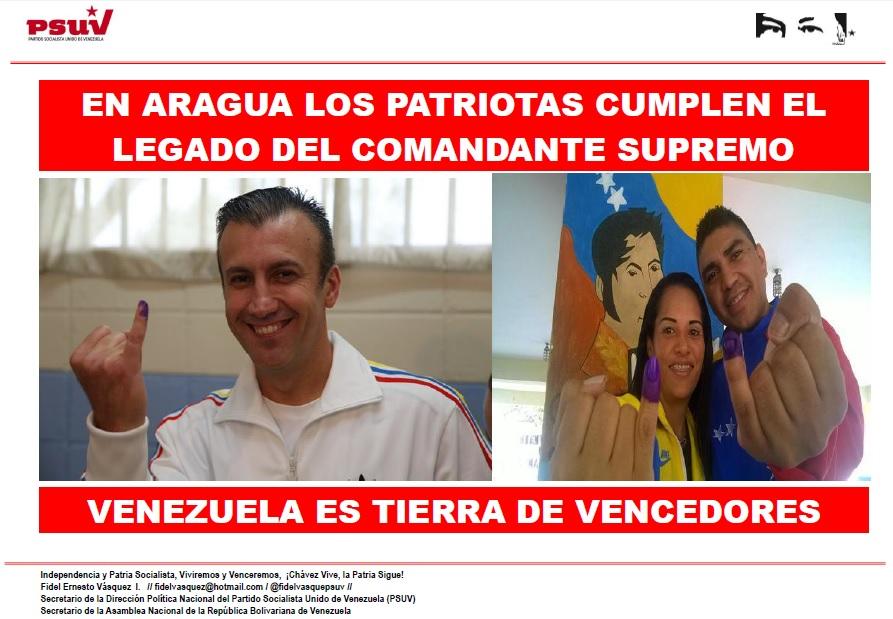 EN ARAGUA LOS PATRIOTAS CUMPLEN EL LEGADO DEL COMANDANTE SUPREMO