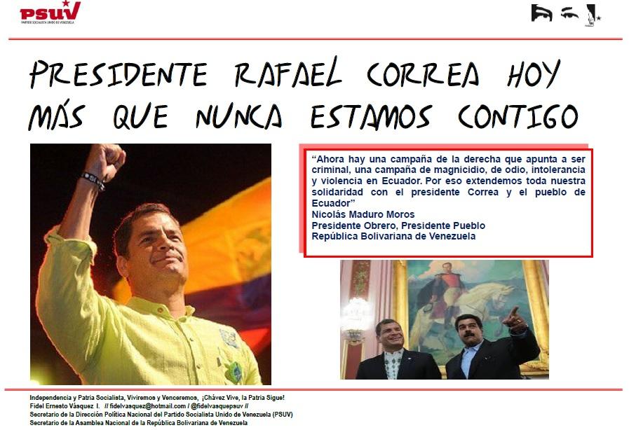 Rafael Correa-Fidel Ernesto Vasquez