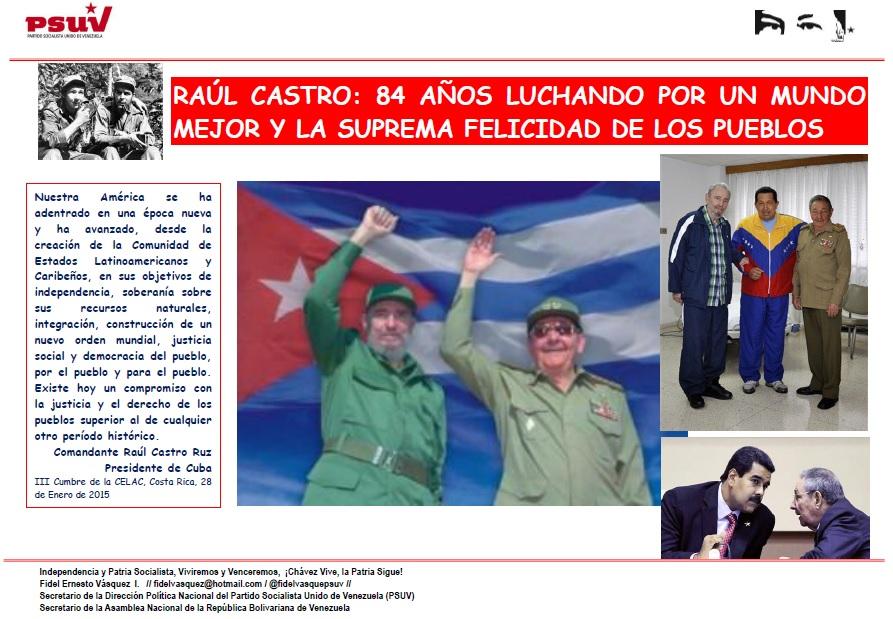 Raul Castro Ruz-Fidel Ernesto Vasquez