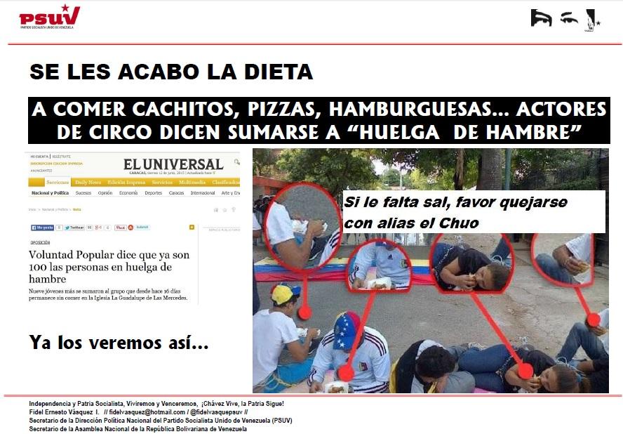Se les acabo la dieta Huelga de hambre-Fidel Ernesto Vasquez