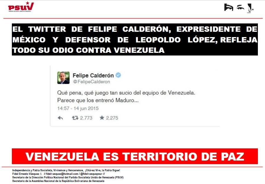 Twitter de Felipe Calderon