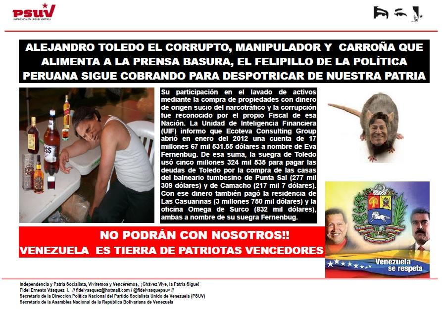 Alejandro Toledo el corrupto inmoral
