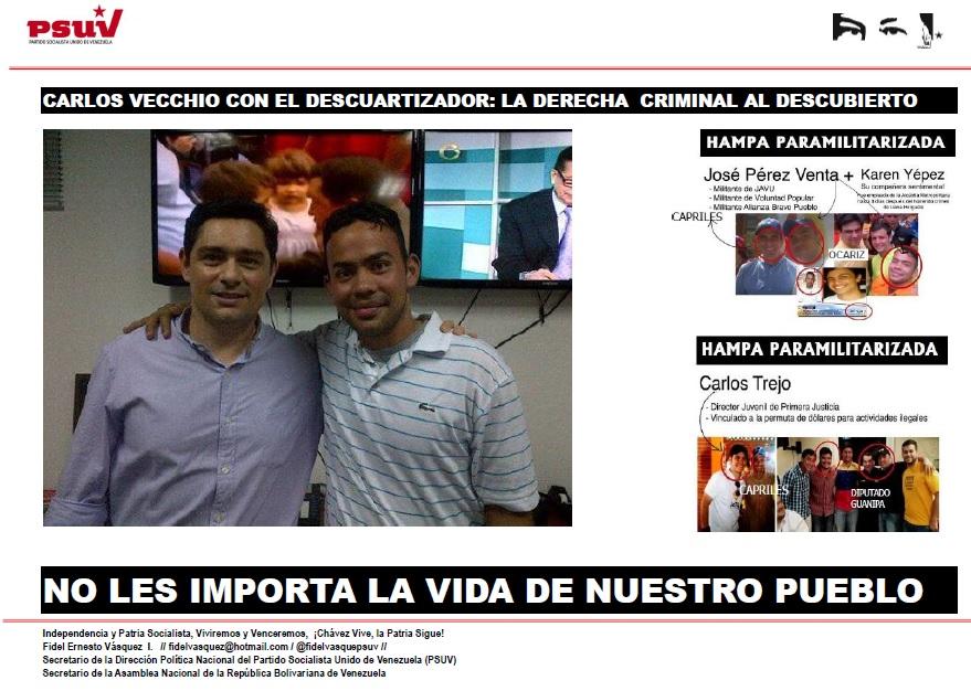 CARLOS VECCHIO CON EL DESCUARTIZADOR