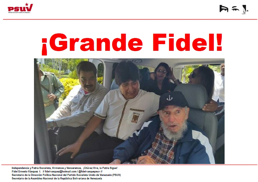 Fidel castro-Nicolas Maduro-Evo Morales-Fidel Ernesto Vasquez