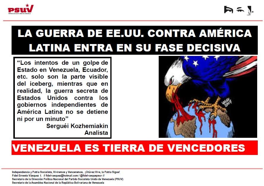 LA GUERRA DE EE.UU. CONTRA AMÉRICA LATINA ENTRA EN SU FASE DECISIVA