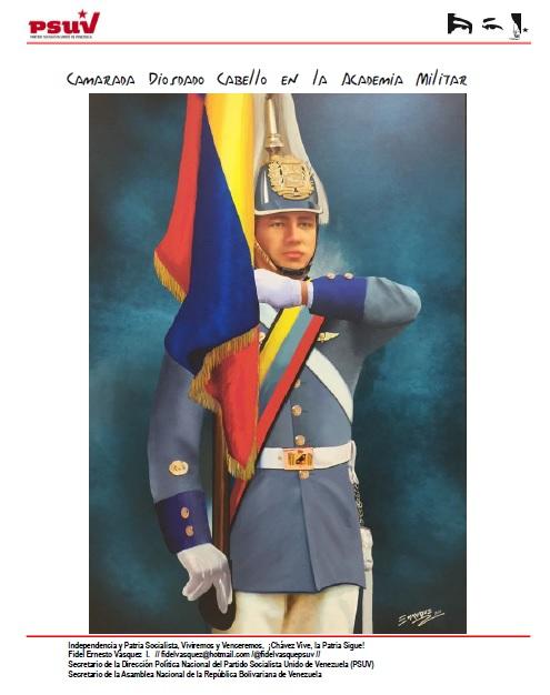 Diosdado Cabello en la Academia Militar