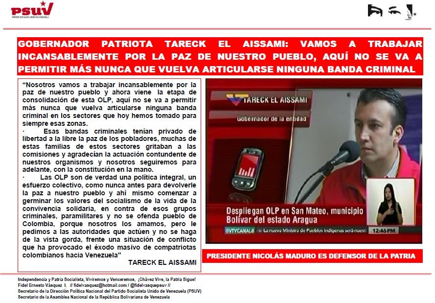 GOBERNADOR PATRIOTA TARECK EL AISSAMI