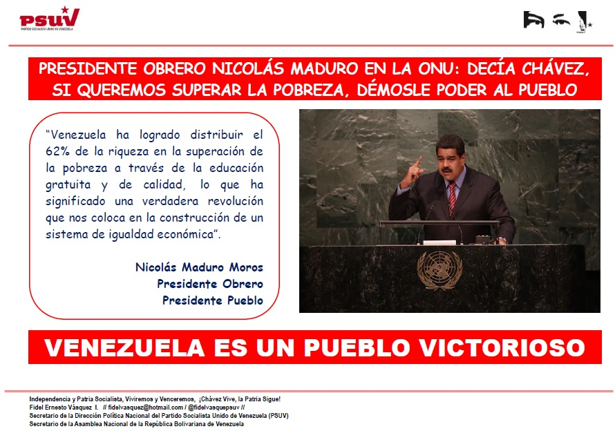 Presidente Nicolas Maduro en la ONU