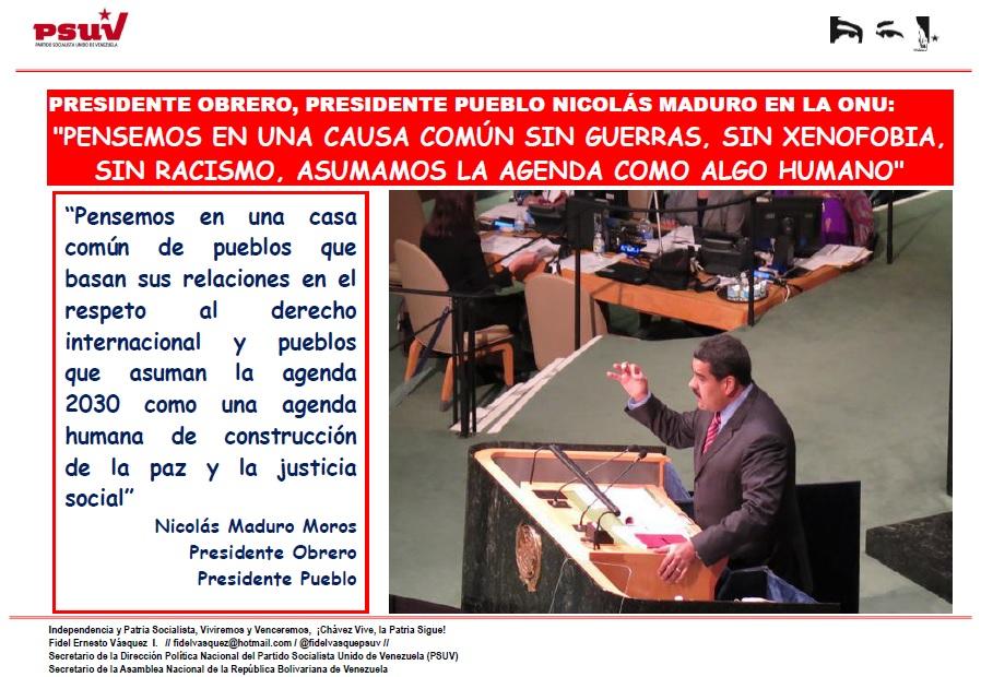 Presidente Nicolas Maduro Moros en la ONU