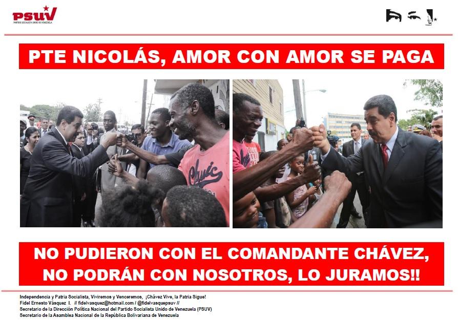 PTE NICOLÁS, AMOR CON AMOR SE PAGA