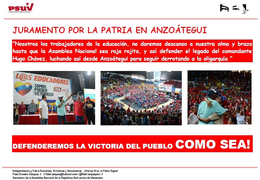 EDUCADORES DE ANZOATEGUI CON ARISTOBULO ISTURIZ