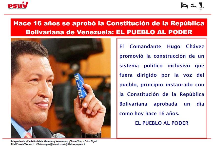 16 AÑOS DE LA CONSTITUCION NACIONAL