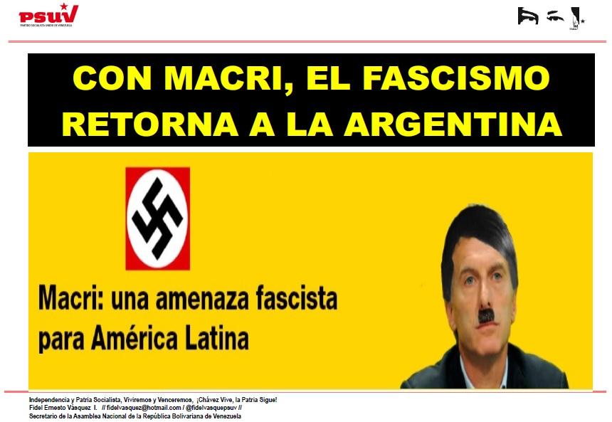 CON MACRI, EL FASCISMO RETORNA A LA ARGENTINA