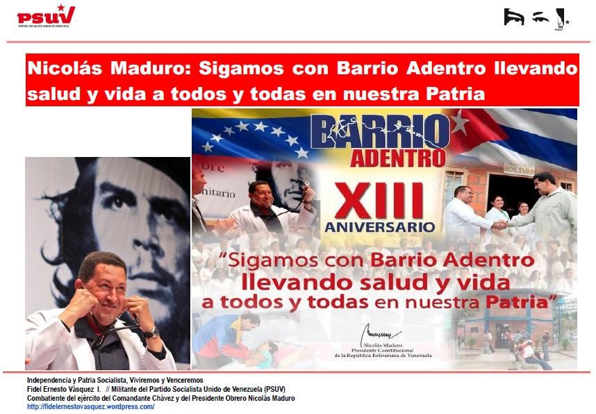 NICOLAS MADURO-BARRIO ADENTRO