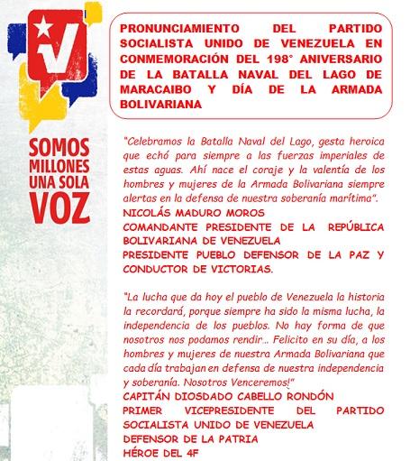 PORTADA PRONUNCIAMIENTO DEL PSUV BATALLA DEL LAGO Y DIA AB-Carpeta Fidel Ernesto Vasquez 23.07.2021