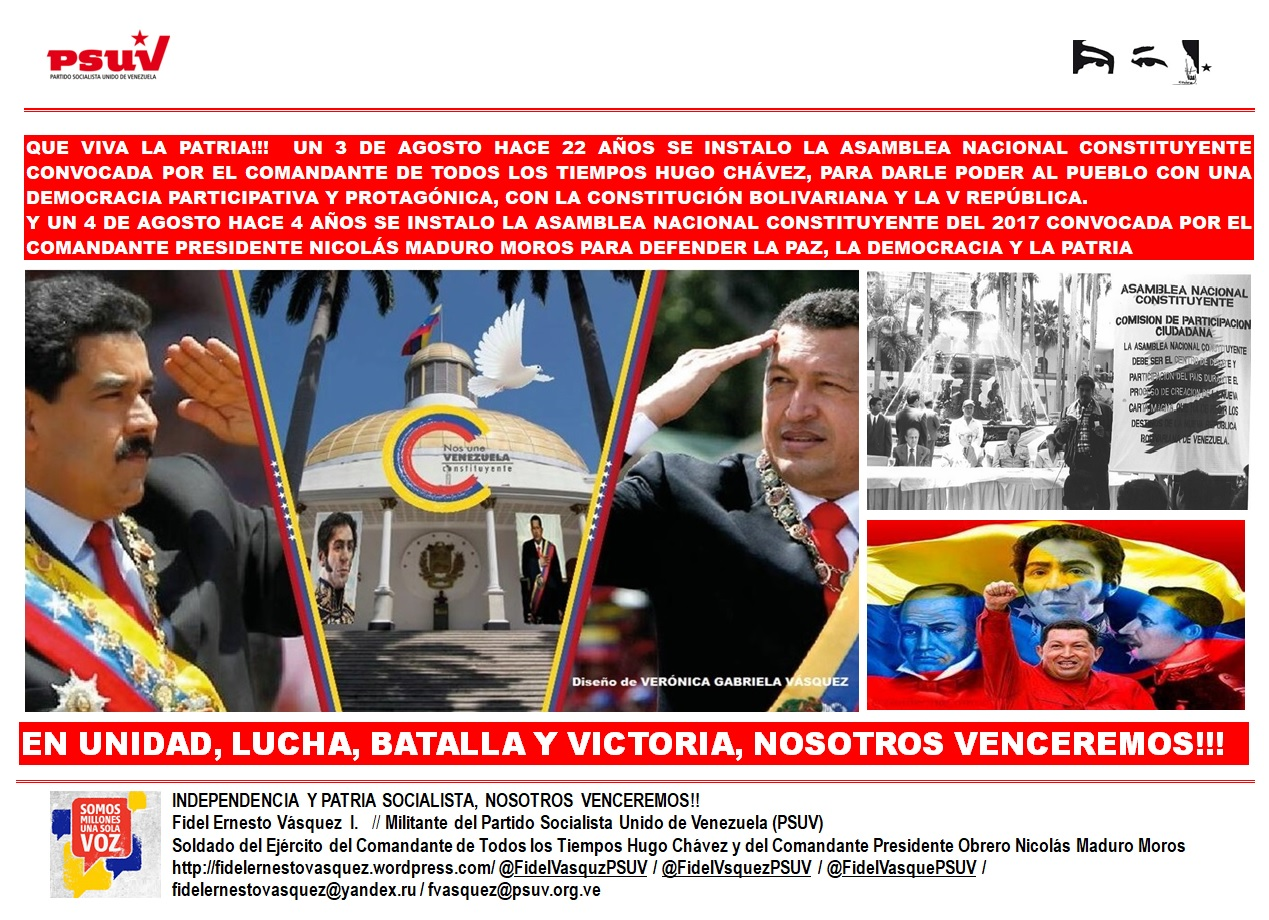 ANC 1999 Y ANC 2017-Carpeta Fidel Ernesto Vasquez 03.08.2021